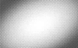 Vector circl halftone geometric seamless pattern with cube shapes. Black white design for posters, sites, business cards Royalty Free Stock Photo
