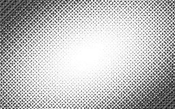 Vector circl halftone geometric seamless pattern with cube shapes. Black white design for posters, sites, business cards Stock Image