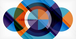 Vector circle abstract background. Geometric template royalty free illustration