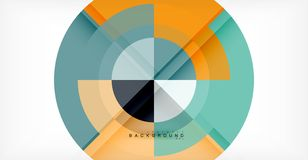 Vector circle abstract background. Geometric template Stock Illustration