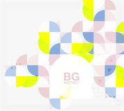 Vector circle abstract background. Vector template background for workflow layout, diagram, number options or web design royalty free illustration