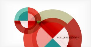 Vector circle abstract background. Geometric template Vector Illustration