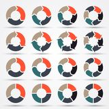 Vector circle arrows for business infographic Stock Photos