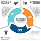 Vector circle arrows for business infographic. Royalty Free Stock Photography