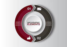 Free Vector Circle Arrows For Infographic. Template For Diagram, Graph, Presentation And Chart. Business Concept With 2 Options Royalty Free Stock Images - 52357599