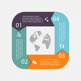 Vector circle arrows for infographic.Can be used for info graphi. Cs, graphic or website layout vector, numbered banners, diagram, horizontal cutout lines, web Stock Photos