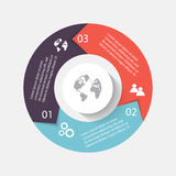 Vector circle arrows for infographic.Can be used for info graphi. Cs, graphic or website layout vector, numbered banners, diagram, horizontal cutout lines, web Stock Photo