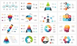 Vector circle arrows infographic, cycle diagram, business graph, presentation chart. Options, part, step, process. Human Royalty Free Stock Images