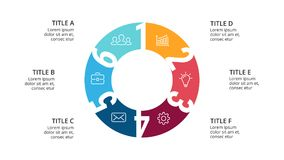 Vector circle arrows infographic, cycle diagram, geometric graph, presentation   Royalty Free Stock Photo