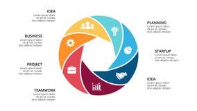 Vector circle arrows infographic, cycle diagram, geometric graph, presentation  Stock Photo