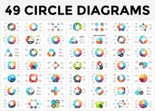 Vector circle arrows infographic, cycle diagram, graph, presentation chart. Business concept with 3, 4, 5, 6, 7, 8. Circle arrows diagram for graph infographic Royalty Free Stock Photos
