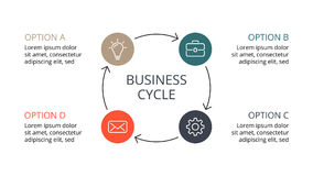 Vector circle arrows infographic, cycle diagram, graph, presentation chart. Business concept with 4 options, parts Stock Photo