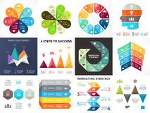 Vector circle arrows infographic, cycle diagram, graph, presentation chart. Business concept with 3, 4, 5, 7, 8 options. Circle arrows diagram for graph royalty free illustration
