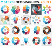 Vector circle arrows infographic, cycle diagram, graph, presentation chart. Circle arrows diagram for graph infographic presentation with steps parts options stock illustration