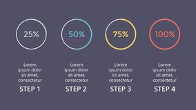 Vector circle arrows infographic, cycle percents diagram, status graph, presentation chart.   Stock Photography