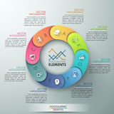 Vector circle arrows for infographic. Vector cycle template for infographic. Template for diagram, graph, presentation and chart. Business concept with 8 options Royalty Free Stock Photography