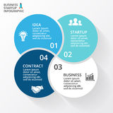 Vector circle arrows infographic, diagram, graph, presentation, chart. Business cycle concept with 4 options, parts Stock Photo