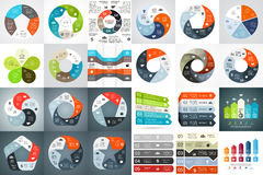 Vector circle arrows infographic, diagram, graph, presentation, chart. Business cycle concept with 5 options, parts Stock Photos