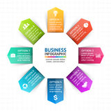 Vector circle arrows infographic, diagram, graph, presentation, chart. Business cycle concept with 8 options, parts Stock Images
