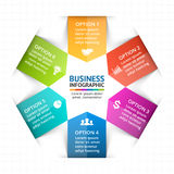 Vector circle arrows infographic, diagram, graph, presentation, chart. Business cycle concept with 6 options, parts Royalty Free Stock Image
