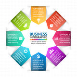 Vector circle arrows infographic, diagram, graph, presentation, chart. Business cycle concept with 8 options, parts Royalty Free Stock Photography