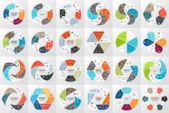 Vector circle arrows infographic, diagram, graph, presentation, chart. Business cycle concept with 6 options, parts. Circle arrows diagram for graph infographic Stock Photos