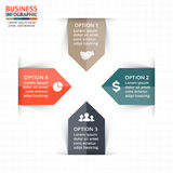 Vector circle arrows infographic, diagram, graph, presentation, chart. Business cycle concept with 4 options, parts Royalty Free Stock Photo
