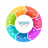 Vector circle arrows infographic, diagram, graph, presentation, chart. Business cycle concept with 7 options, parts Stock Photography