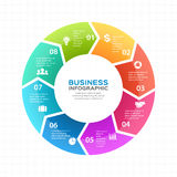 Vector circle arrows infographic, diagram, graph, presentation, chart. Business cycle concept with 8 options, parts Royalty Free Stock Photo