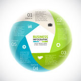 Vector circle arrows infographic, diagram, graph, presentation, chart. Business cycle concept with 5 options, parts Royalty Free Stock Images