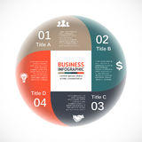 Vector circle arrows infographic, diagram, graph, presentation, chart. Business cycle concept with 4 options, parts Royalty Free Stock Photography