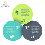 Vector circle arrows infographic, diagram, graph, presentation, chart. Business cycle concept with 3 options, parts Stock Images