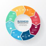 Vector circle arrows for infographic, diagram. Stock Images