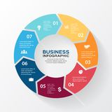 Vector circle arrows for infographic, diagram. Royalty Free Stock Image