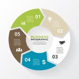 Vector circle arrows for infographic, diagram. Royalty Free Stock Photos