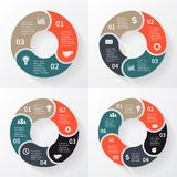 Vector circle arrows for infographic Stock Photo