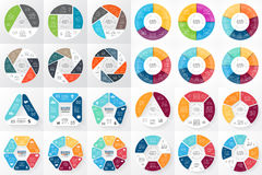 Vector circle arrows infographic. 3, 4, 5, 6, 7, 8 options, parts, steps. Template for cycle diagram, graph. Layout for your options or steps. Abstract template Royalty Free Stock Photos
