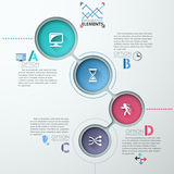 Vector circle arrows for infographic. Vector circle process template infographic. Template for diagram, graph, presentation and round chart. Business concept Stock Illustration