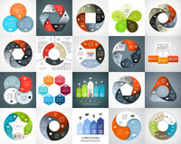 Vector circle arrows infographic set, cycle diagram, graph, presentation chart. Business concept with 3, 4, 5, 6 options Stock Image