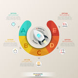 Vector circle arrows infographic for startup concept Royalty Free Stock Images