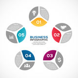 Vector circle arrows infographic. Template for cycle diagram, graph, presentation and round chart. Business concept sign Royalty Free Stock Photos