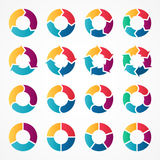 Vector circle arrows infographic. Template for cycle diagram, graph, presentation and round chart. Business logo concept Royalty Free Stock Photo