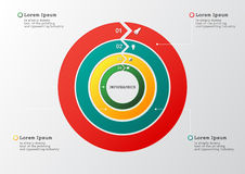 Vector circle arrows for infographic. Template for diagram, grap Royalty Free Stock Photos