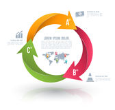 Vector circle arrows for infographic. Royalty Free Stock Photo
