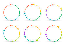 Vector circle arrows for infographic. Royalty Free Stock Image
