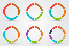 Vector circle arrows for infographic. Royalty Free Stock Photography