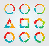 Vector circle arrows for infographic. Stock Image