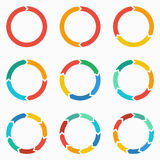 Vector circle arrows for infographic.  Stock Images