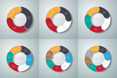 Vector circle arrows infographics set. Template for diagram, gra Royalty Free Stock Image