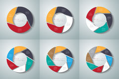 Vector circle arrows infographics set. Template for diagram Royalty Free Stock Images
